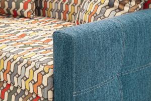 Прямой диван Этро люкс с опорой №5 History Bricks + Orion Denim Подлокотник
