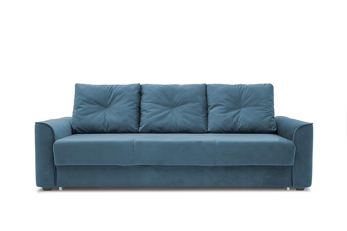 Прямой диван еврокнижка Фьюжн Maserati  Blue Вид спереди