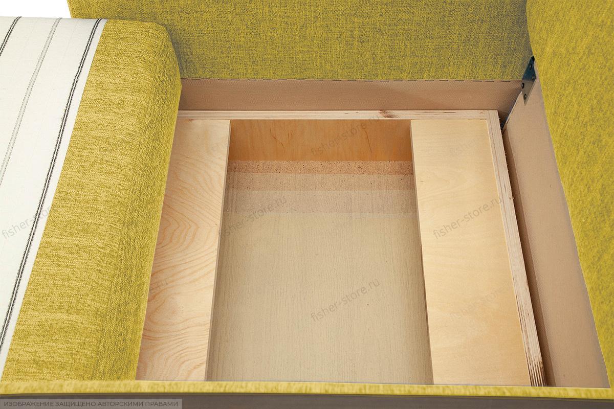 Кресло кровать Этро-2 с опорой №1 Orion Mustard Ящик для белья