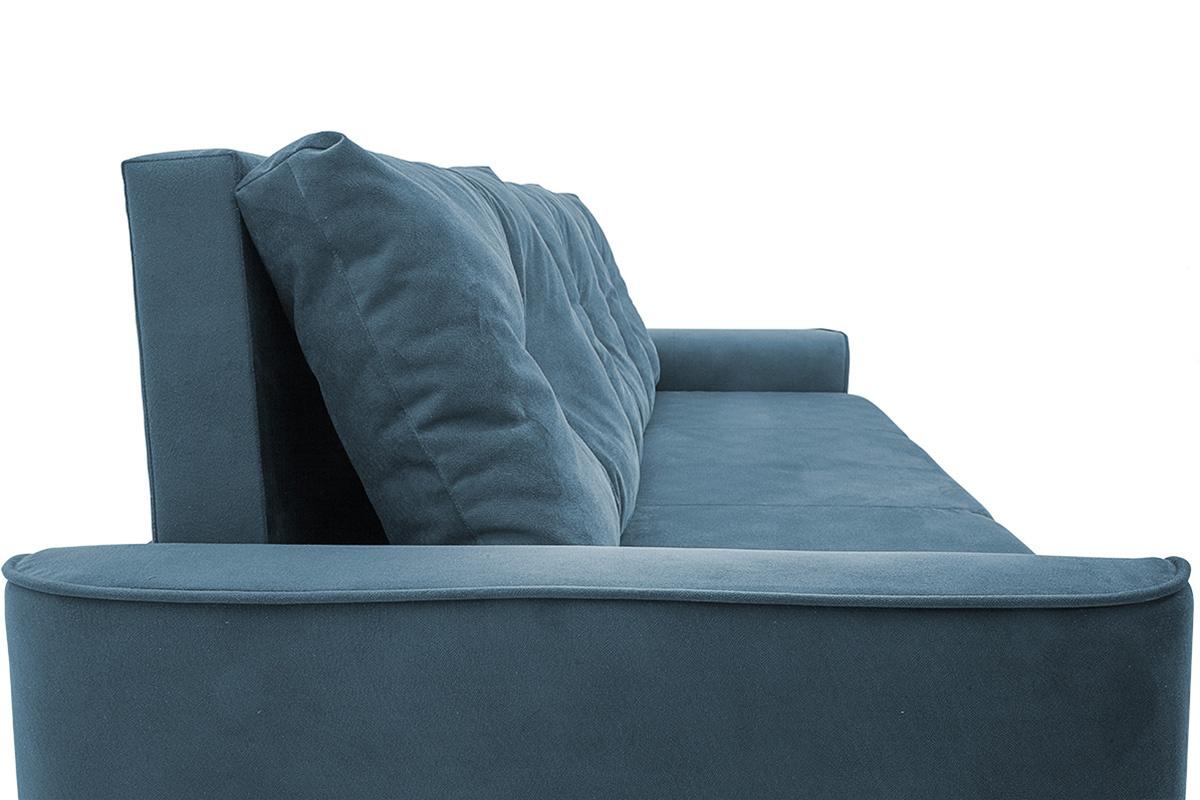 Прямой диван еврокнижка Фьюжн Maserati  Blue Подушки