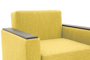 Кресло кровать Этро-2 с опорой №1 Orion Mustard Подлокотник