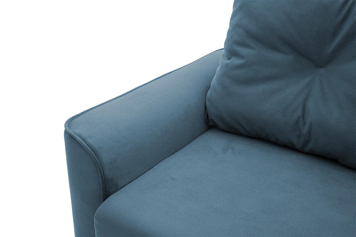 Прямой диван еврокнижка Фьюжн Maserati  Blue Подлокотник