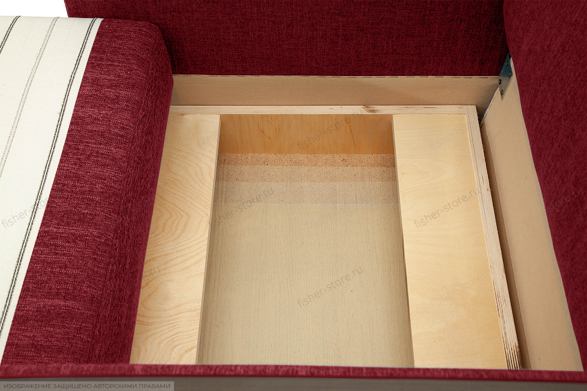 Кресло Этро-2 с опорой №1 Orion Red Ящик для белья