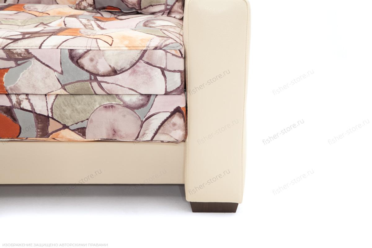 Прямой диван Этро люкс Fleur Mocca + Sontex Beight Ножки