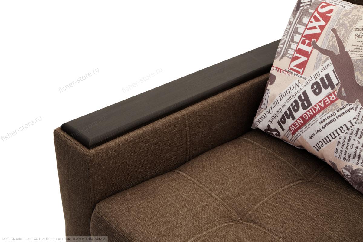 Прямой диван Этро люкс Dream Brown Подлокотник