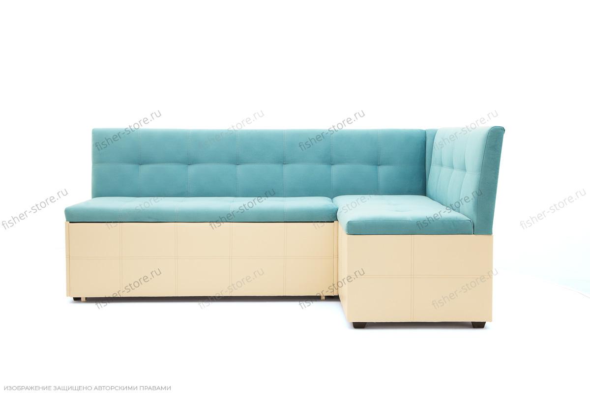 Угловой диван Домино Maserati Light blue + Sontex Beight Вид спереди