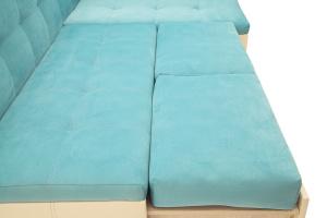 Угловой диван Домино Maserati Light blue + Sontex Beight Спальное место