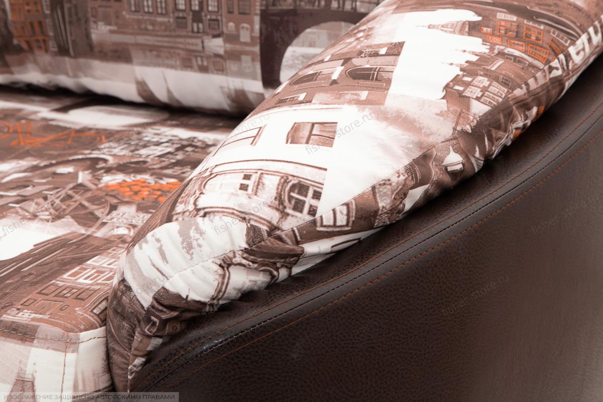 Софа Лидия-4 Amsterdam Sepia + Sontex Umber Текстура ткани
