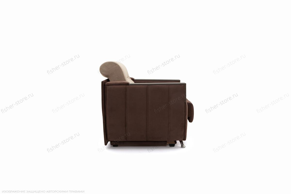Двуспальный диван Бест Amigo Brown + Amigo Latte Вид сбоку