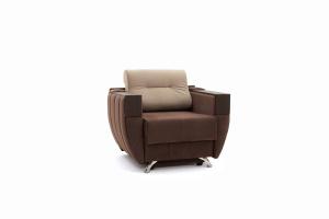 Двуспальный диван Бест Amigo Brown + Amigo Latte Вид по диагонали