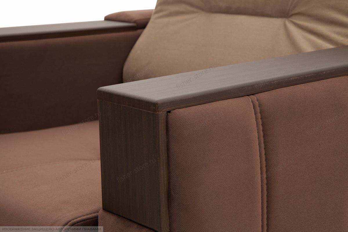 Двуспальный диван Бест Amigo Brown + Amigo Latte Подлокотник
