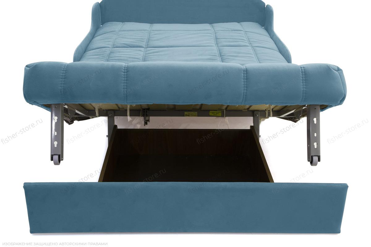 Прямой диван Виа-8 Maserati Blue Ящик для белья