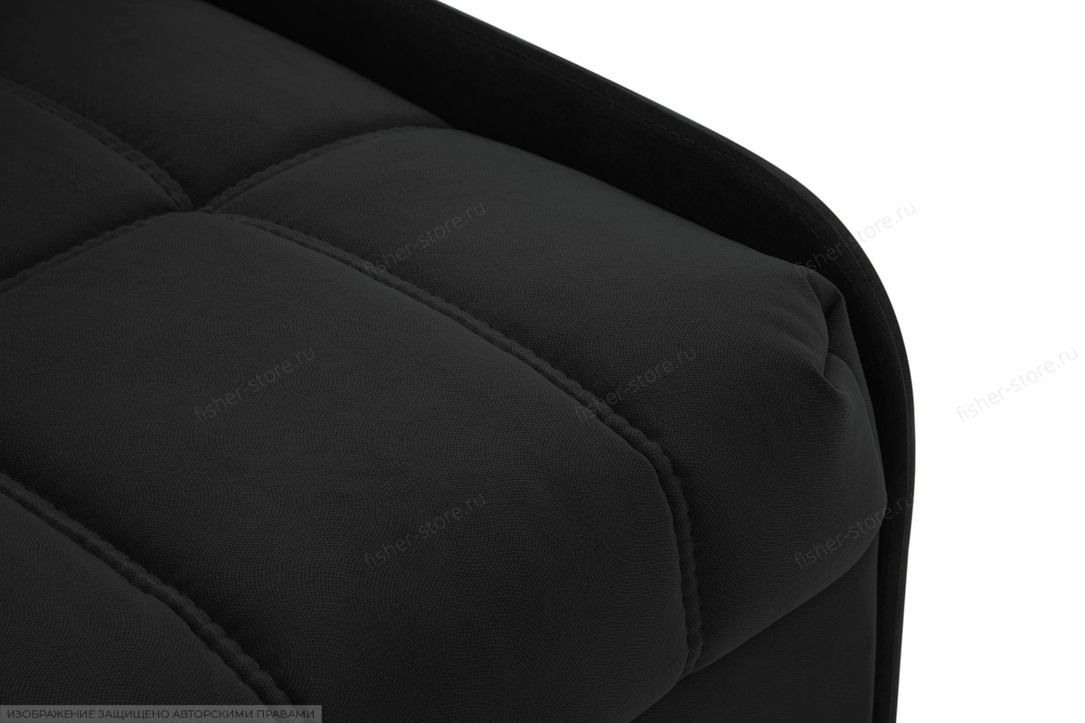 Прямой диван Виа-8 Maserati Black Текстура ткани