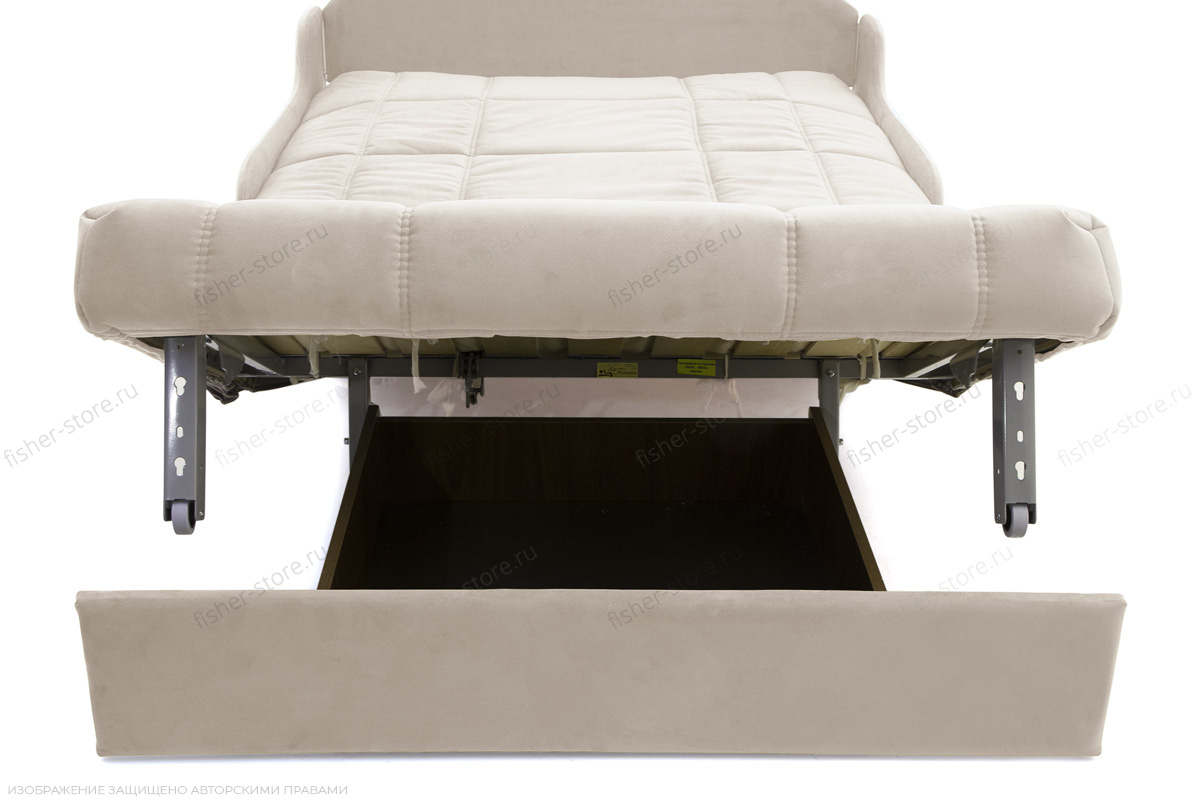 Прямой диван Виа-8 Maserati White Ящик для белья