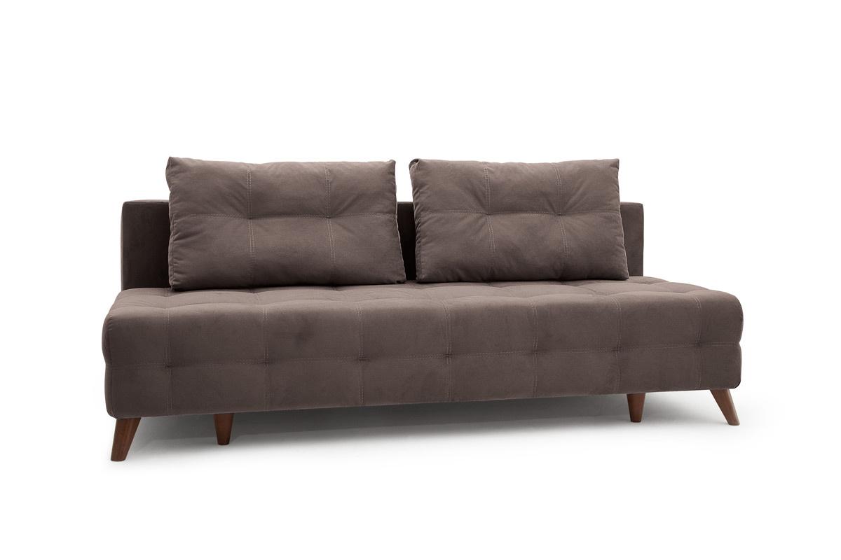 Прямой диван Фокс Amigo Chocolate Вид по диагонали