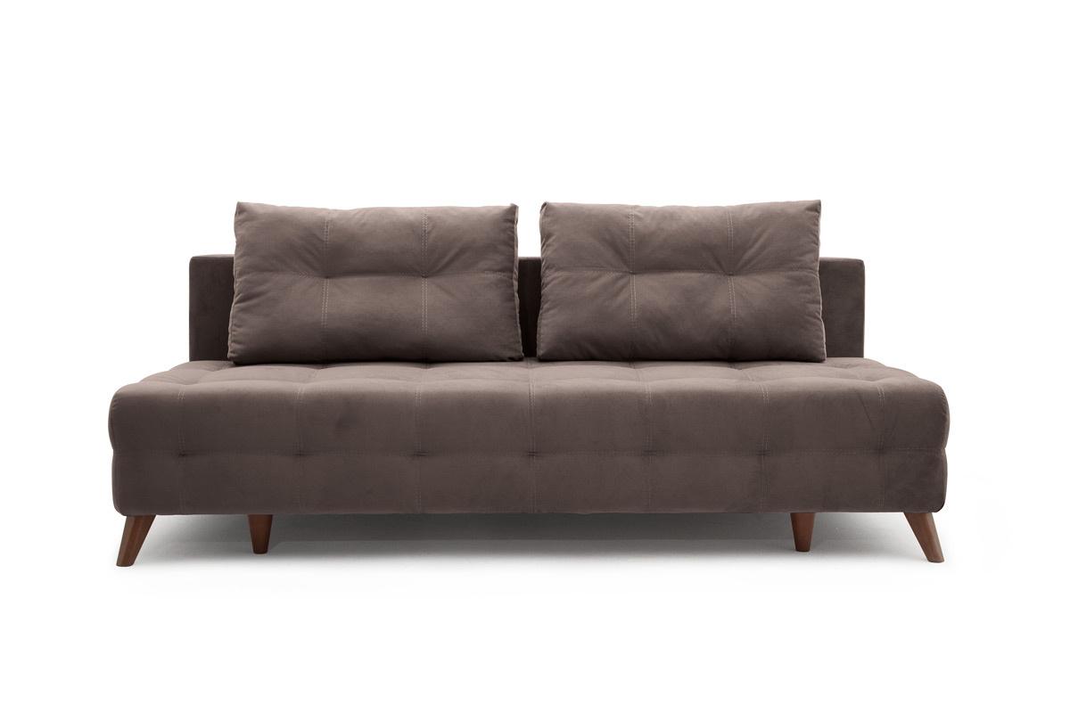 Прямой диван Фокс Amigo Chocolate Вид спереди