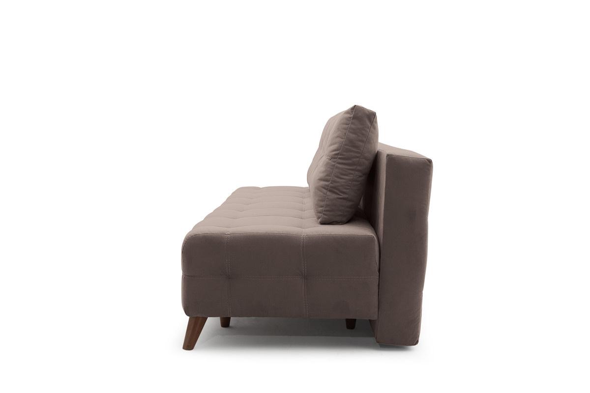 Прямой диван Фокс Amigo Chocolate Вид сбоку