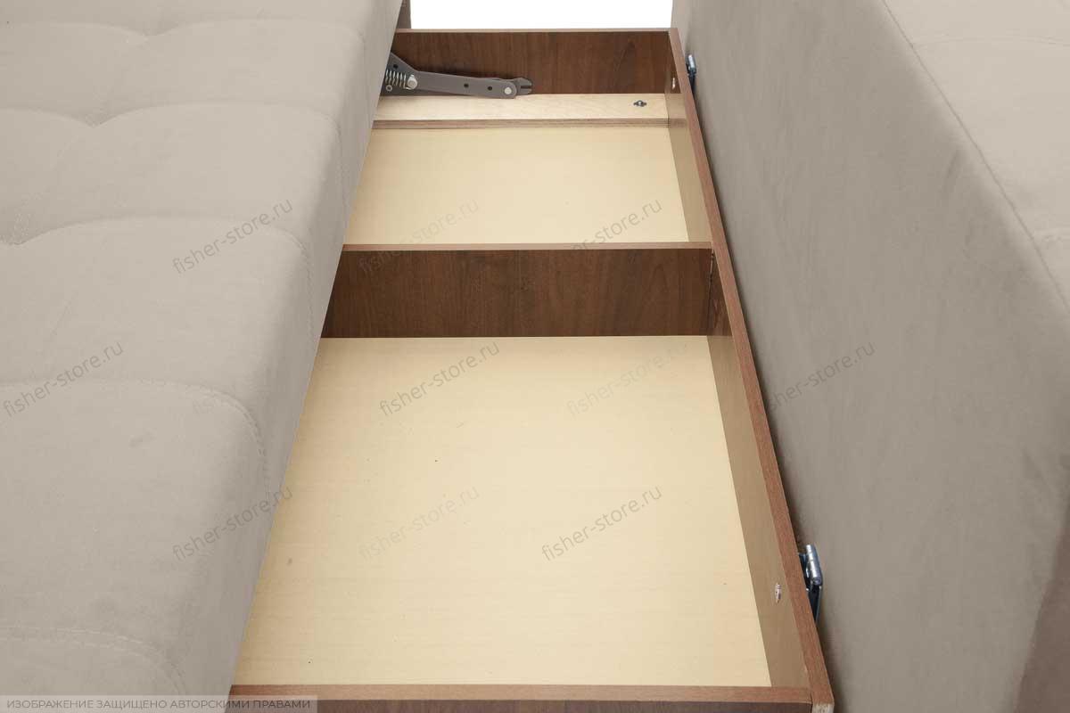 Прямой диван Фокс Amigo Cream Ящик для белья