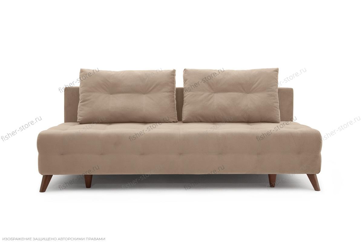 Прямой диван Фокс Amigo Latte Вид спереди