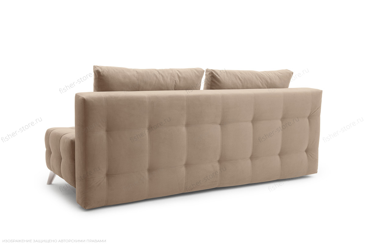 Прямой диван Фокс Amigo Latte Вид сзади