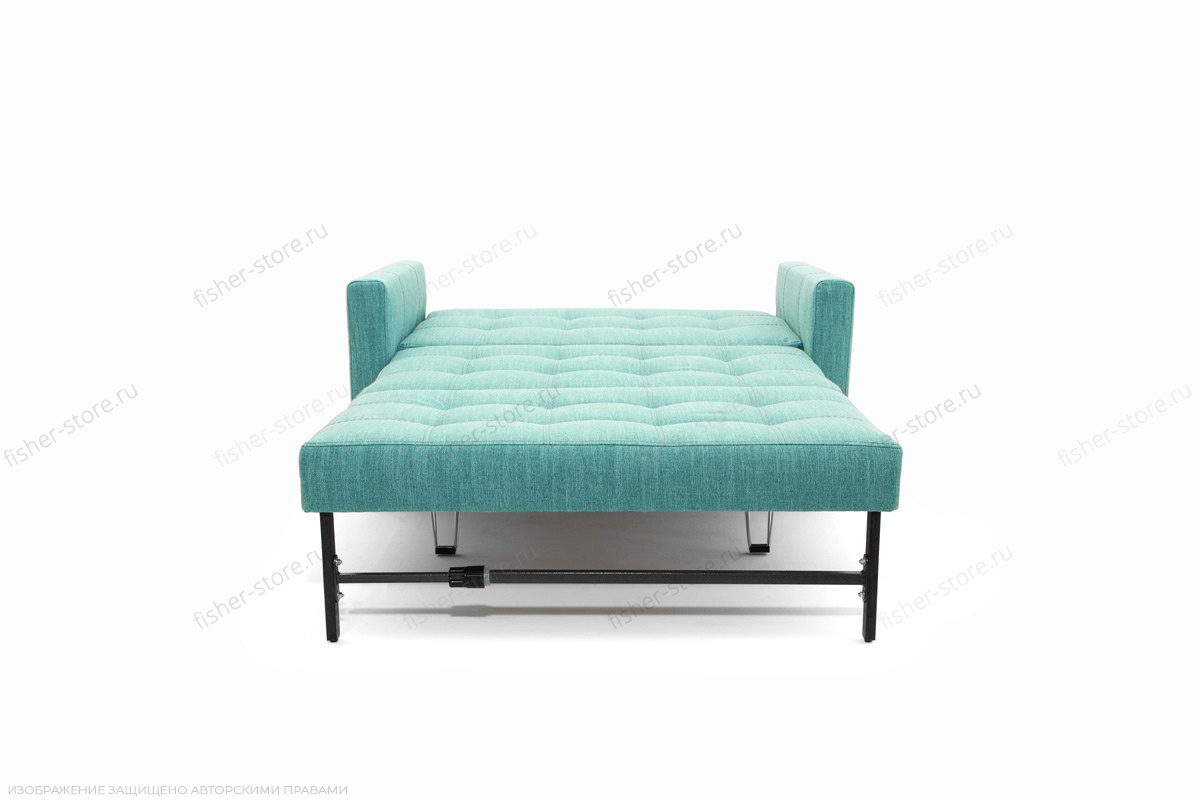 Прямой диван Этро люкс с опорой №3 Orion Blue Спальное место