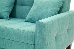 Прямой диван Этро люкс с опорой №3 Orion Blue Текстура ткани