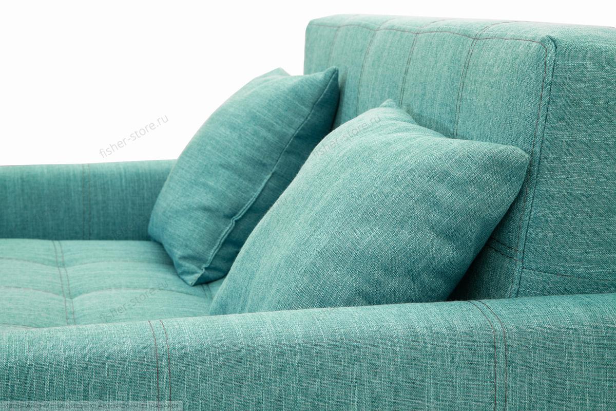 Прямой диван Этро люкс с опорой №3 Orion Blue Подушки