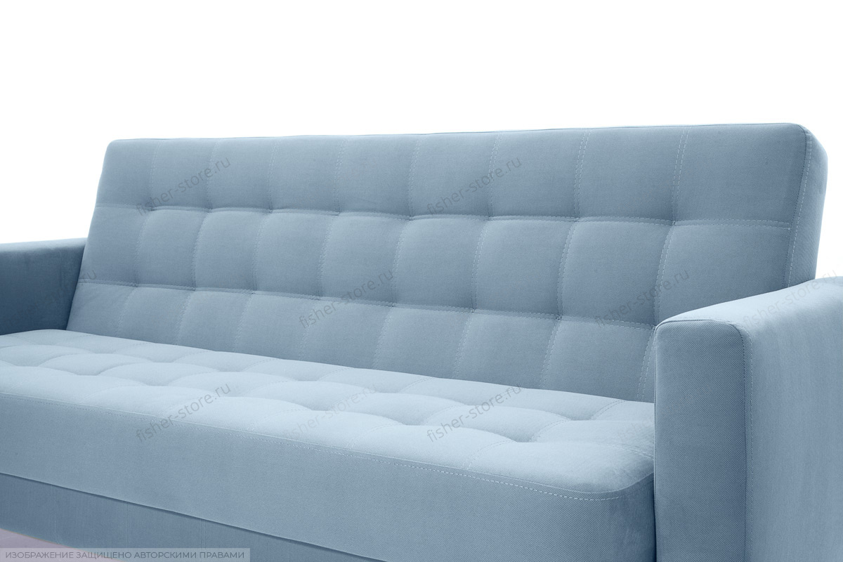 Прямой диван Оскар-2 с опорой №12 Amigo Blue Текстура ткани