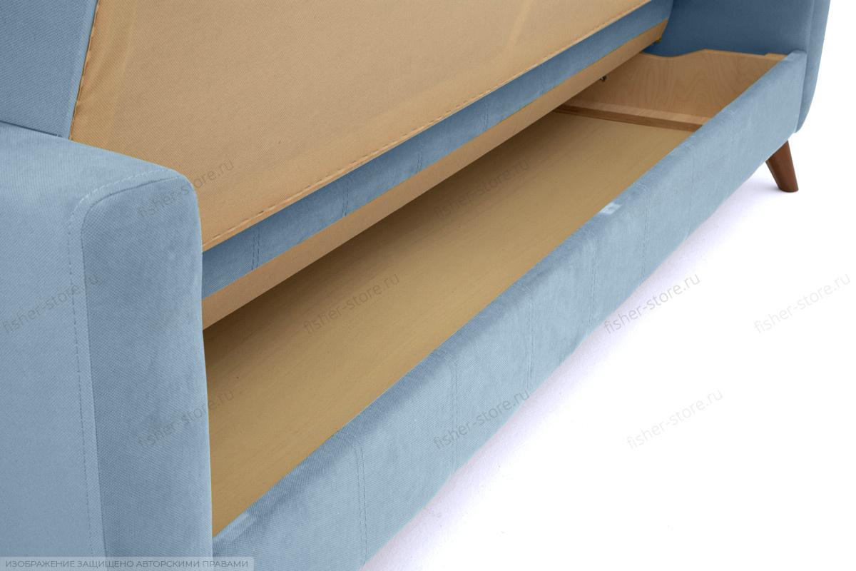 Прямой диван Оскар-2 с опорой №12 Amigo Blue Ящик для белья