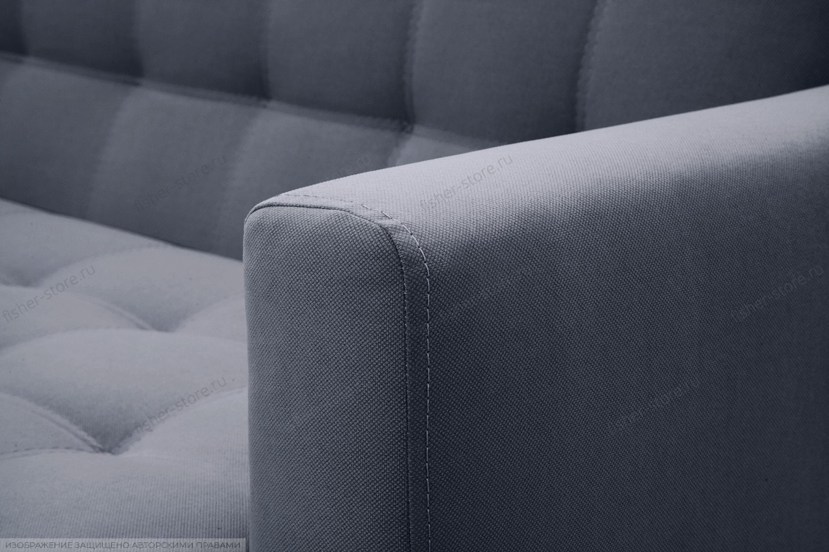 Прямой диван Оскар-2 с опорой №12 Amigo Navy Подлокотник