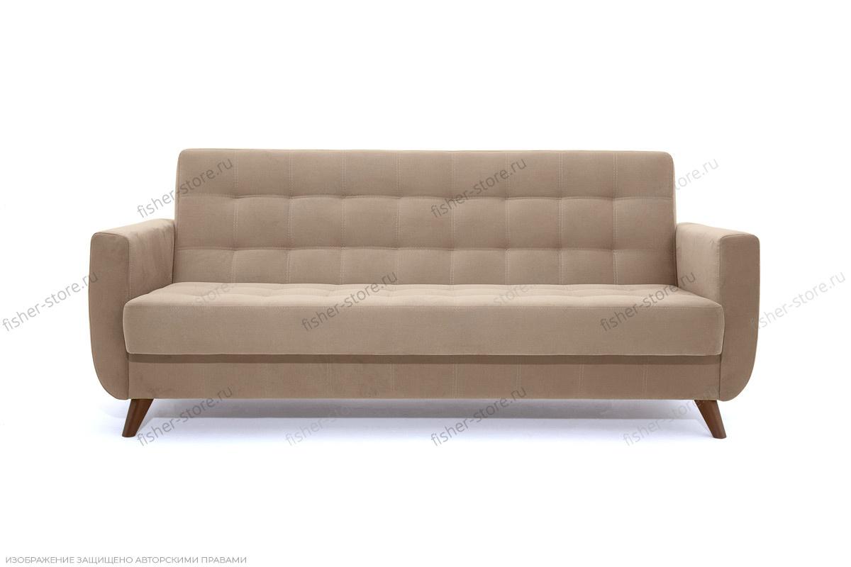 Прямой диван Оскар-2 с опорой №12 Amigo Latte Вид спереди