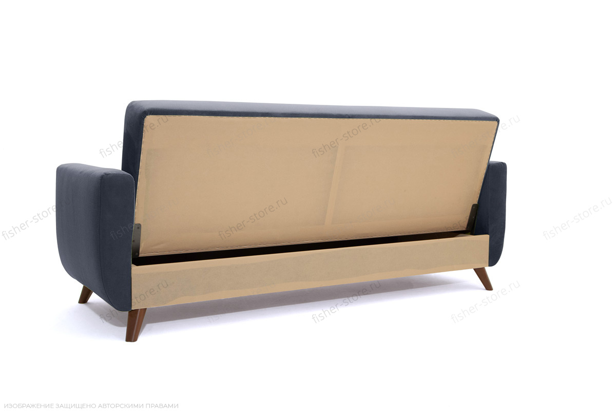 Прямой диван Оскар-2 с опорой №12 Amigo Navy Вид сзади