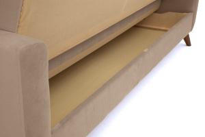 Прямой диван Оскар-2 с опорой №12 Amigo Latte Ящик для белья