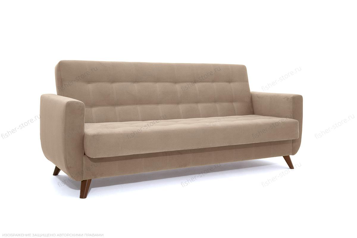 Прямой диван Оскар-2 с опорой №12 Amigo Latte Вид по диагонали