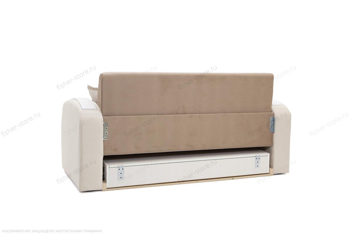 Прямой диван Браво-2 Amigo Latte + Amigo Bone Вид сзади