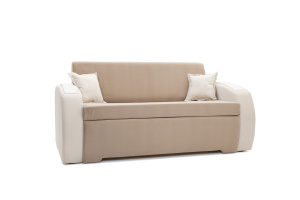 Прямой диван Браво-2 Amigo Latte + Amigo Bone Вид по диагонали