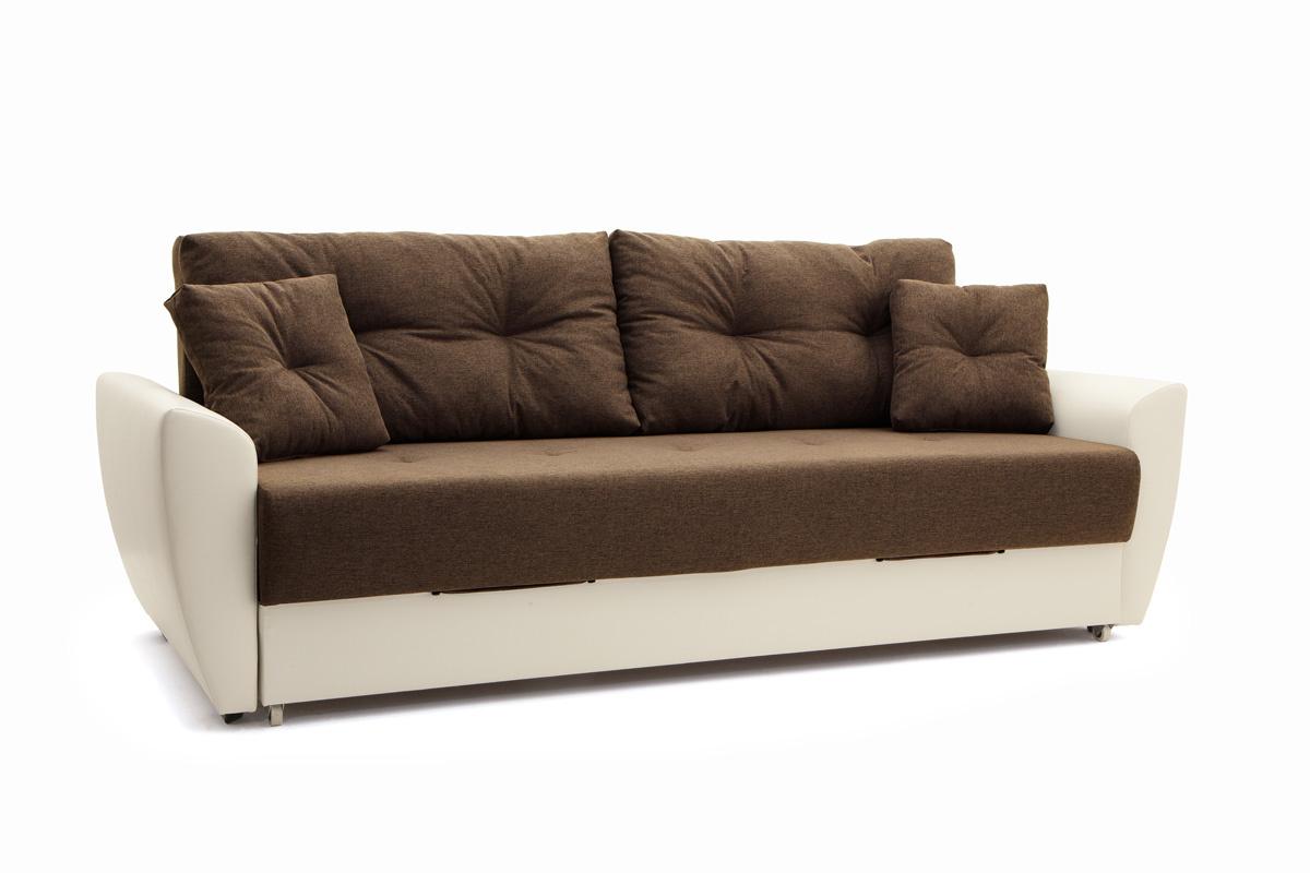 Прямой диван Винтаж Dream Brown + Sontex Milk Вид по диагонали