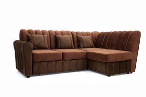 Угловой диван Престиж-8 Kengoo NUT + Kengoo Chocolate Вид по диагонали