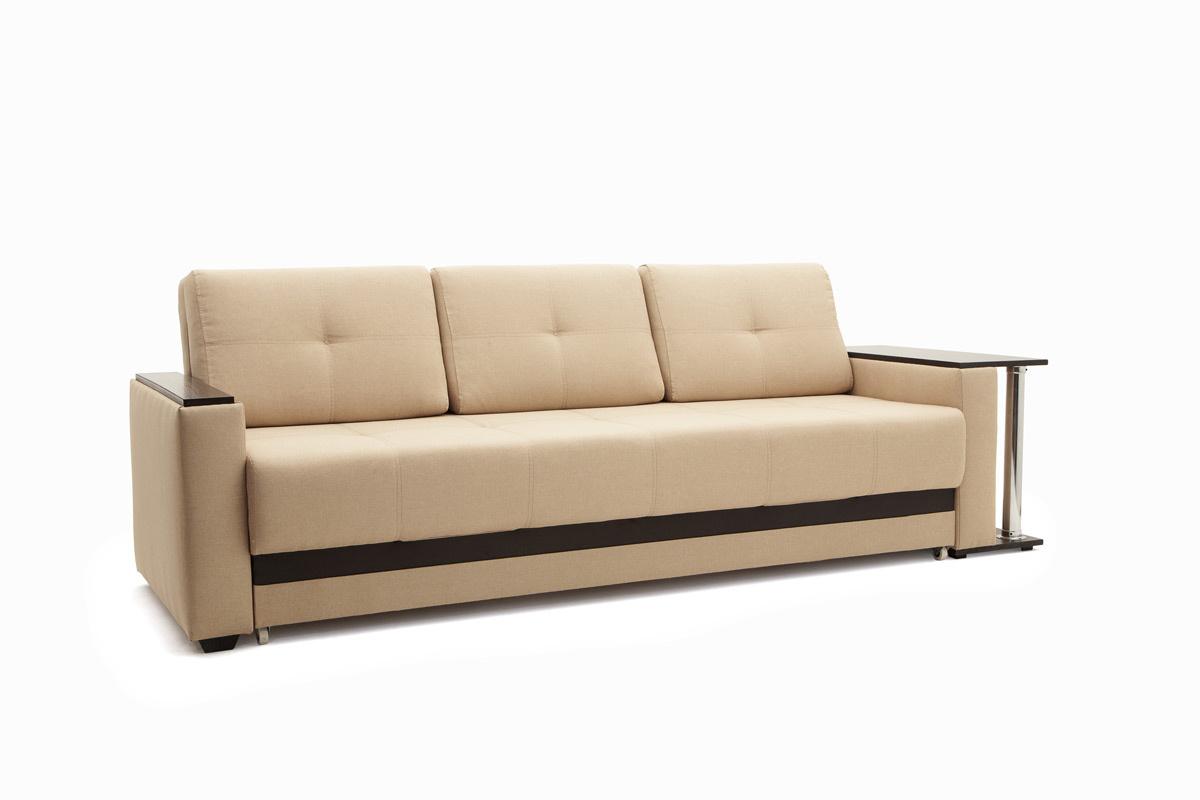 Светлый диван Атланта со столом Savana Camel + Sontex Umber Вид по диагонали