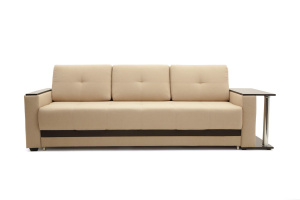 Двуспальный диван Атланта-3 эконом со столиком Savana Camel Вид спереди