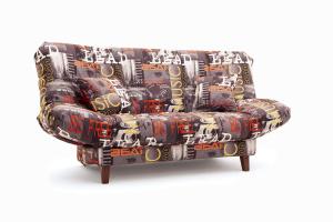 Прямой диван Самурай с опорой №3 Music Grafit Вид по диагонали