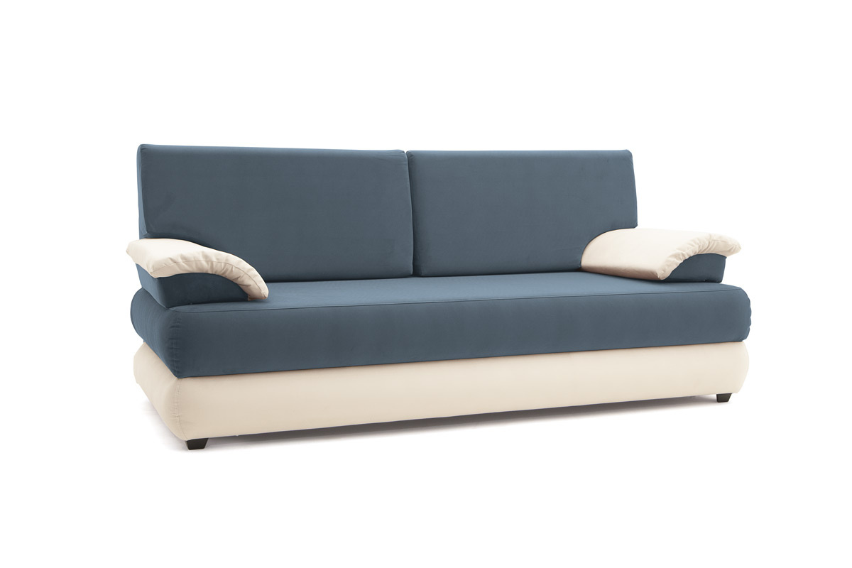 Прямой диван Фиджи Maserati Grey-blue + White Вид по диагонали