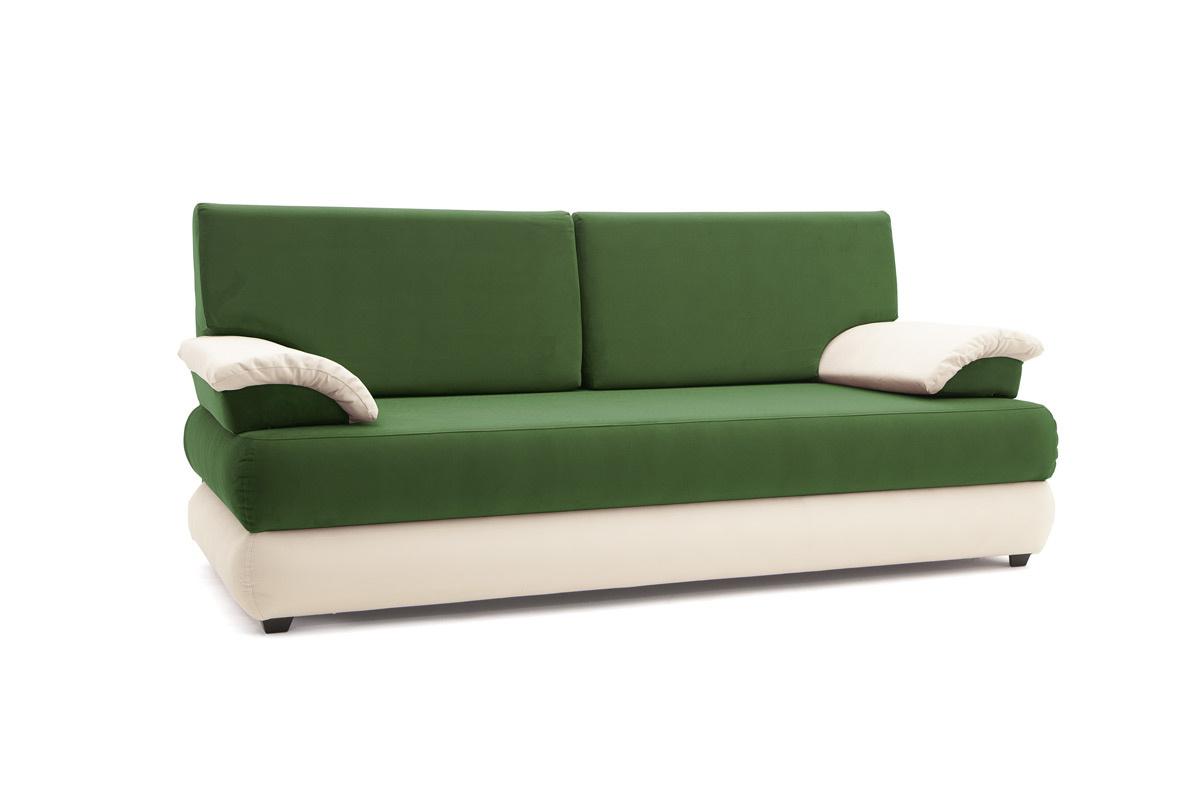 Прямой диван Фиджи Maserati Green + White Вид по диагонали