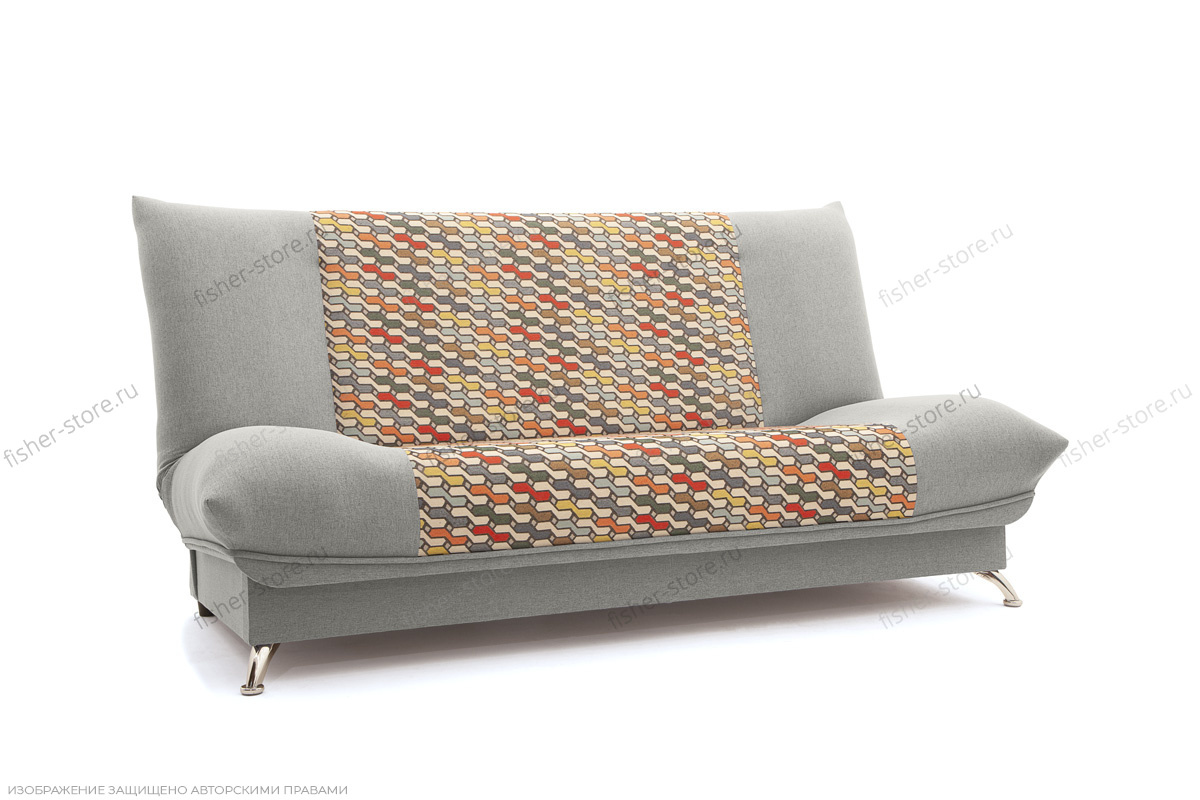 Прямой диван Хилтон-2 вилка Dream Light grey + History Bricks Вид по диагонали
