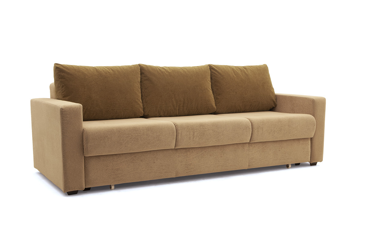 Прямой диван еврокнижка Селена-2 Golden Flece latte + Golden Fleece lungo Вид по диагонали