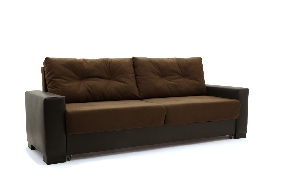 Двуспальный диван Хлоя Maserati Brown + Sontex Umber Вид по диагонали