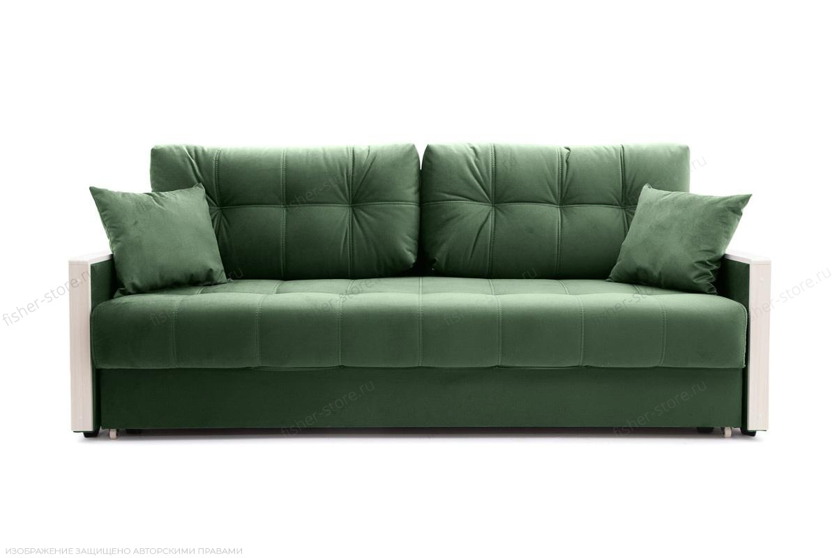 Прямой диван Мадрид Amigo Green Вид спереди