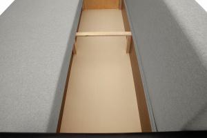 Прямой диван еврокнижка Амстердам эконом Dream Light Grey Ящик для белья
