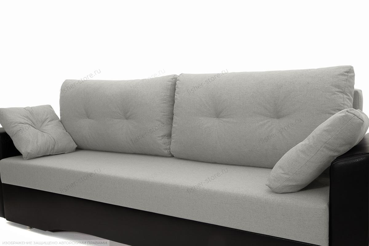 Прямой диван еврокнижка Амстердам эконом Dream Light Grey Подушки