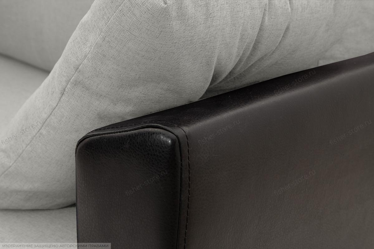 Прямой диван еврокнижка Амстердам эконом Dream Light Grey Подлокотник